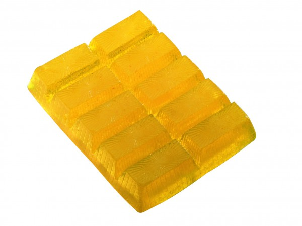 Seifenriegel 250 g, gelb, Zitronenduft