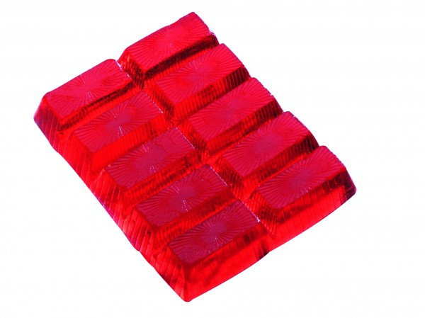 Seifenriegel 250 g, rot, Erdbeerduft