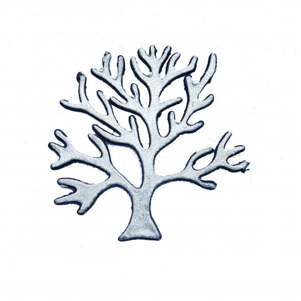 Baum, Wachsverzierung, schwarz/silber, 6,5 cm x 6,5 cm