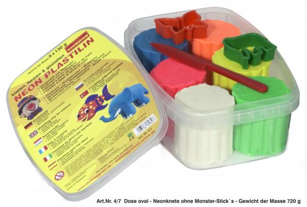Plastilin Knetbox 1020 g, 6 Farben je 170 g, Zubehör