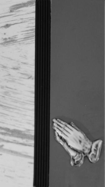 Wachsverzierset betende Hände - Komplettset für Trauerkerzen