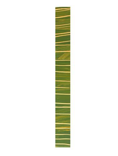 Wachsborte 24 x 3 cm, glanzgold grün meliert