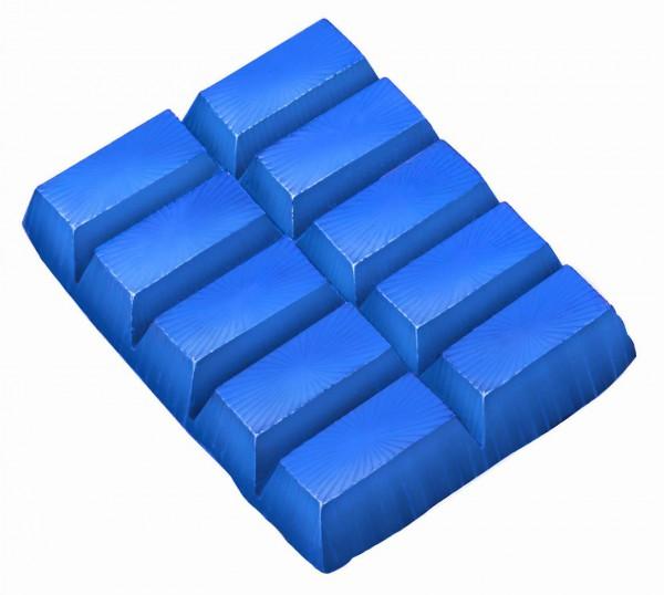 Farbe für weisse Seife blau