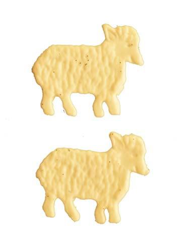 Schafe weiß 2,5 cm, 2 Stück