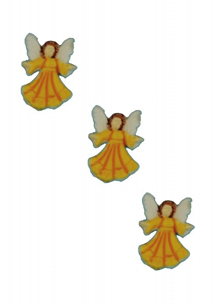 Engel gelb 2,2 cm, 3 Stück