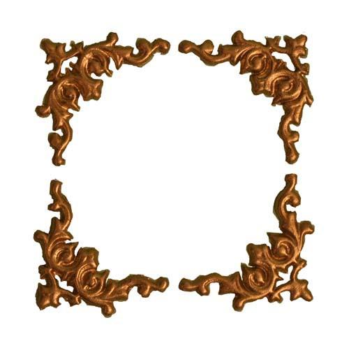 Wachsverzierung Rahmen 3 cm in gold oder silber