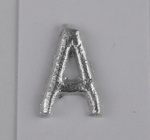 Wachsbuchstaben silber matt 10 mm