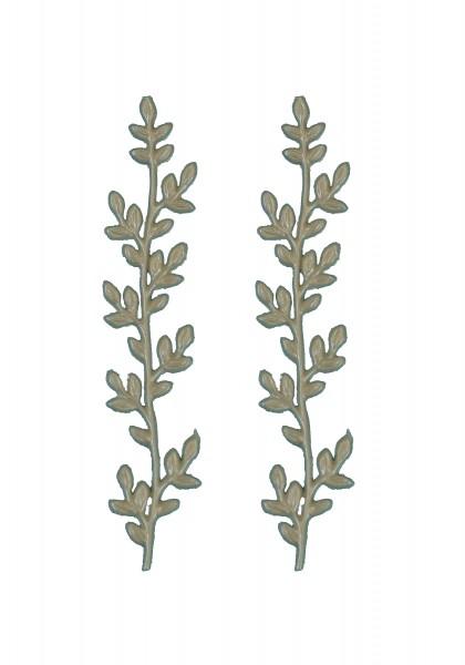 Wachsverzierung Zweige in weiß