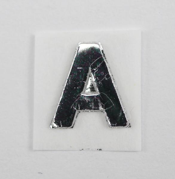 Wachsbuchstaben silber glänzend 8 mm