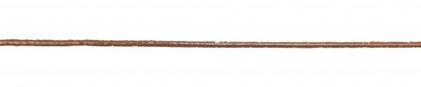 Wachsstreifen kupfer rund, 2 mm, 23 cm