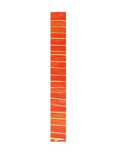 Wachsborte 24 x 3 cm, glanzgold rot meliert