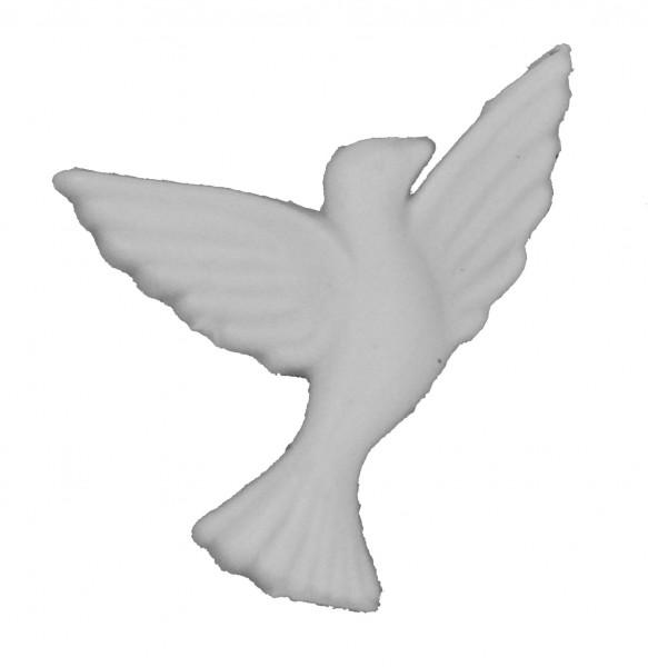 Wachsornament Taube weiß 3,5 cm