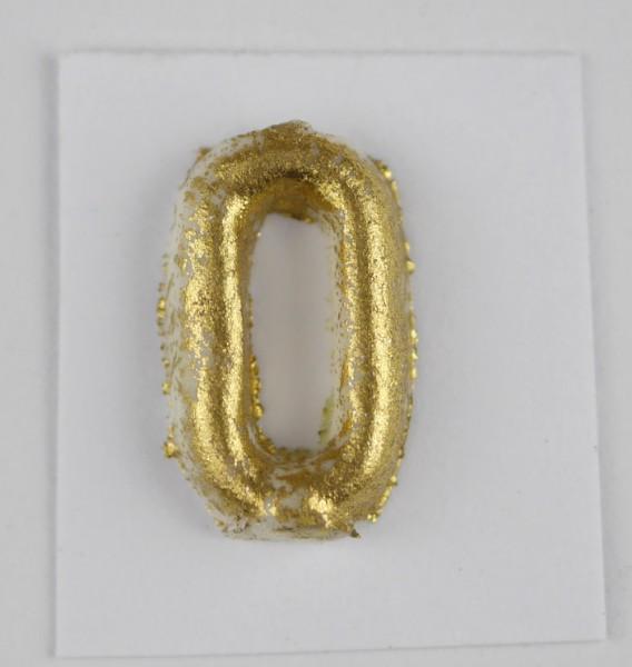 Wachszahlen gold matt 10 mm