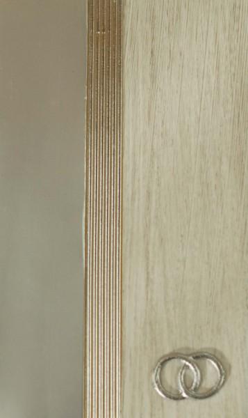 Wachsverzierset Eheringe silber - Komplettset