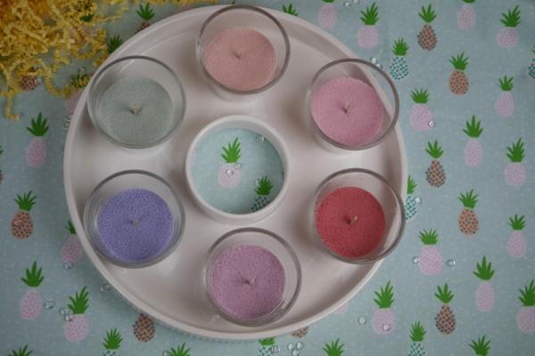 Kerzensand in verschiedenen Farben