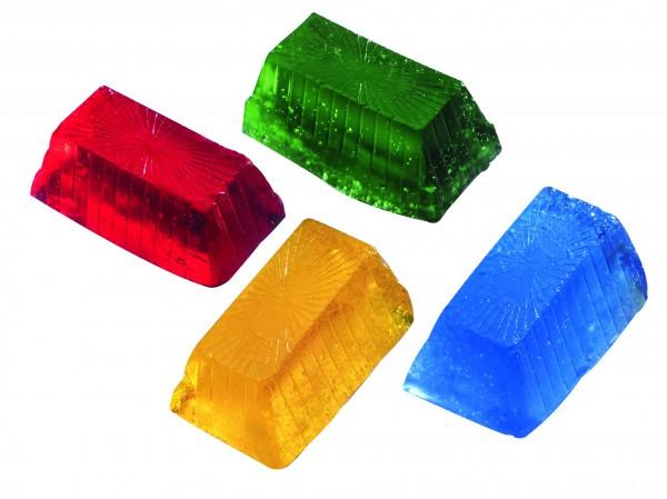 4 Miniriegel für transparente Seife färben