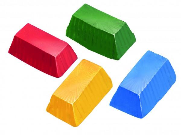 4 Miniriegel für weiße Seife färben (Opak)
